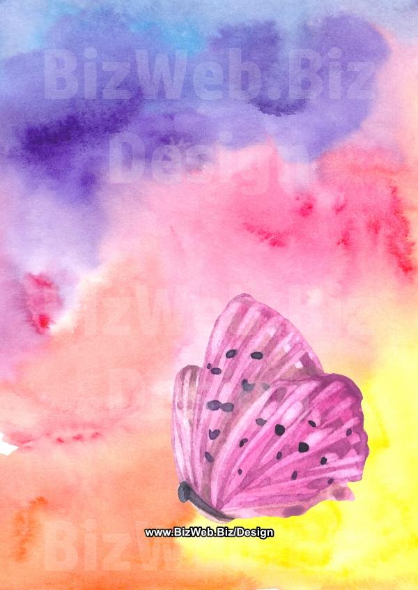 Blank Pattern Template, Butterfly - A6