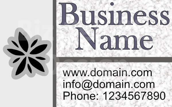 Grey Marble Business Card