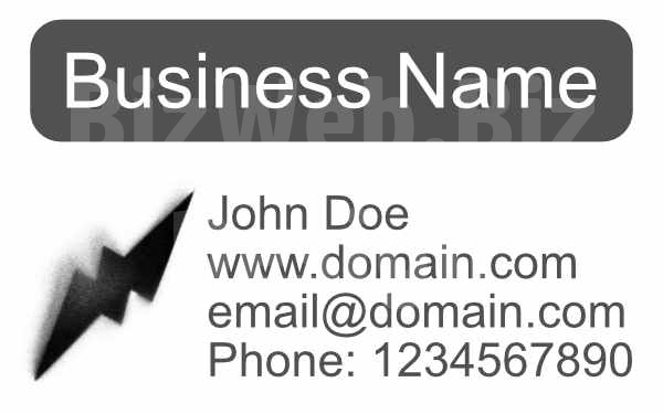 Grey And White Business Card