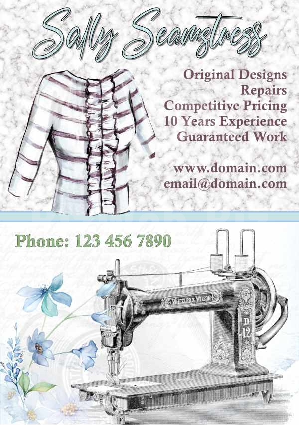 Seamstress/Sewing Services Leaflet - A5