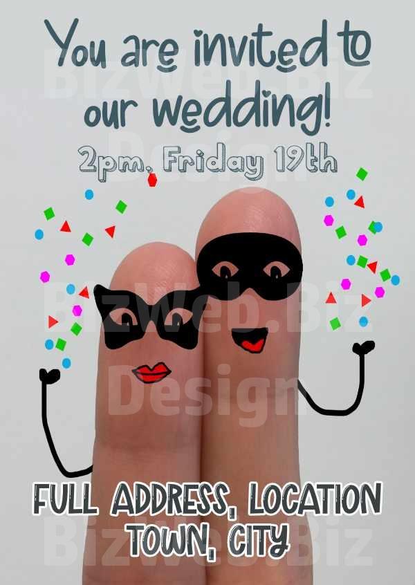 Funny Wedding Invitation - A6