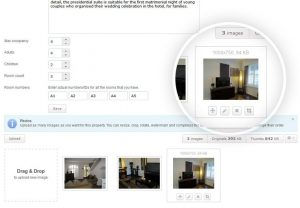 Hotel Booking Features - Advanced Image Settings